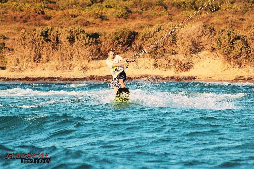 Luke Whiteside kitesurfing