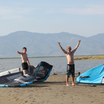 Dan Sweeney anf Luke Whiteside at RadicalKitesurf